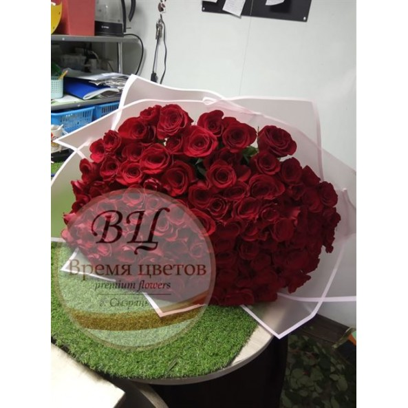 "101 красная роза ""Микс-3"""
