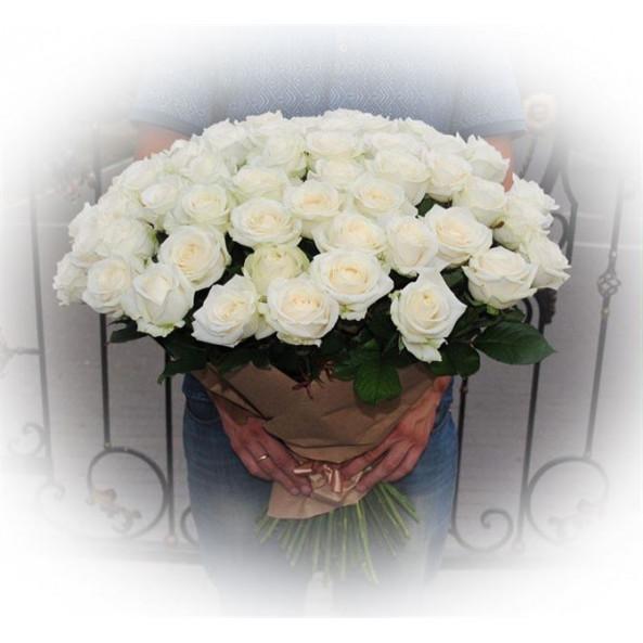 """Розы """"Белые (50см)-2"""""""
