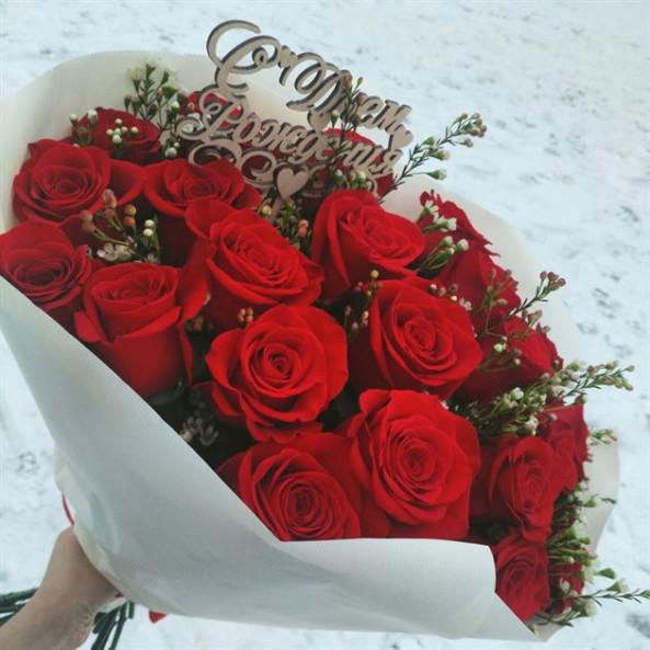 """Розы """"Красные (50см) -5"""""""